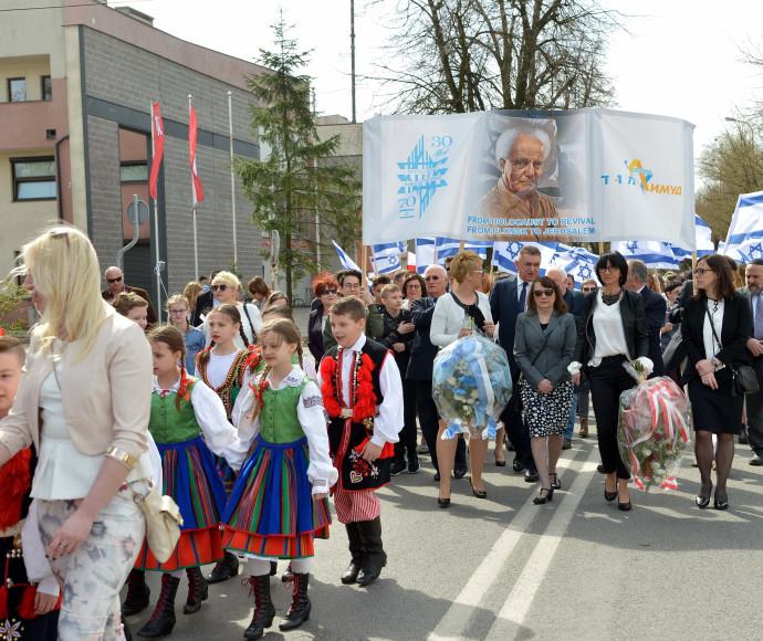 תושבי עיר הולדתו של בן גוריון בצעדה המונית לרגל חגיגות ה-70 למדינת ישראל