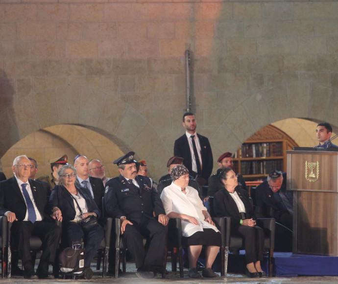 """הרמטכ""""ל גדי איזנקוט בטקס יום הזיכרון ברחבת הכותל"""