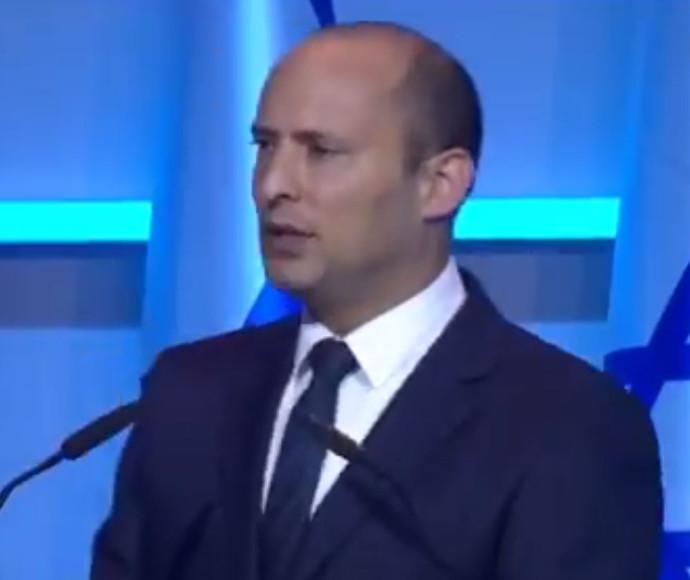 נפתלי בנט בטקס הענקת פרס ישראל