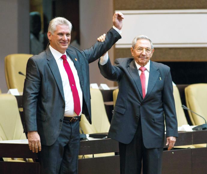 ראול קסטרו ומיגל דיאס-קאנל