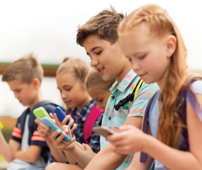 ילדים עם סמארטפון, אילוסטרציה