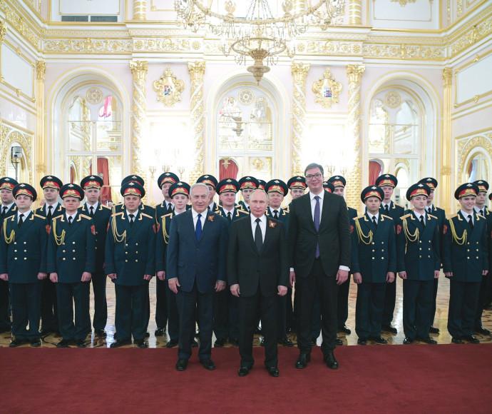 בנימין נתניהו וולדימיר פוטין במוסקבה
