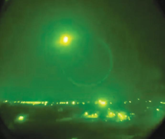 טיל ישראלי בשמי סוריה