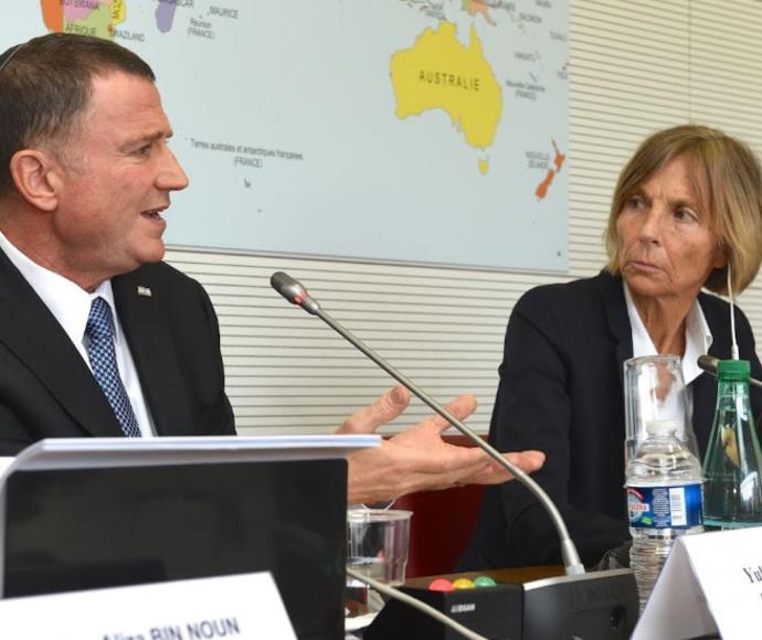 יולי אדלשטיין בדיון בוועדת החוץ של האסיפה הלאומית בפריז