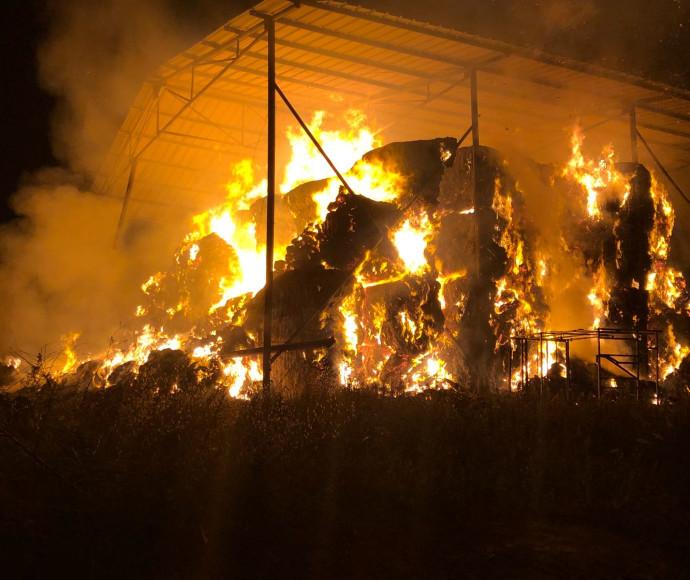 שריפת מתבן בבית הספר כדורי
