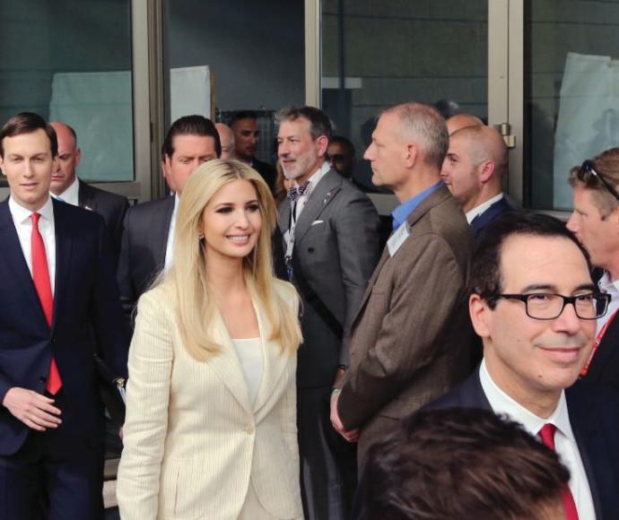איוונקה טראמפ בטקס פתיחת השגרירות