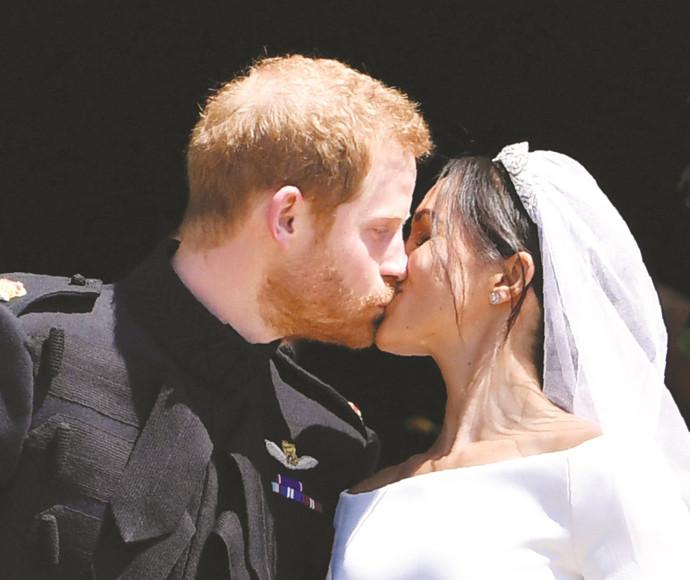 הארי ומייגן בחתונתם