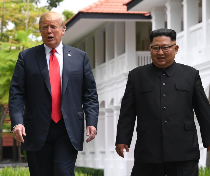 קים ג'ונג און, דונלד טראמפ