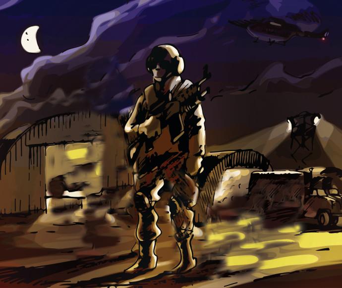 איור, חייל