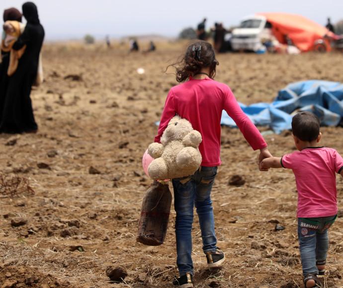 פליטים סורים מאזור דרעא