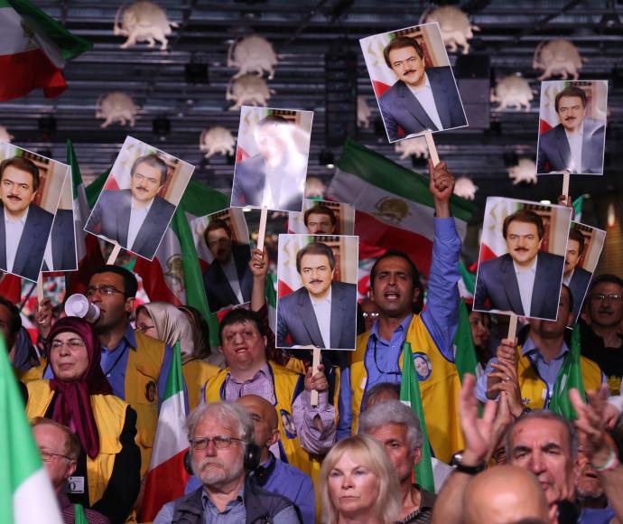 עצרת נגד המשטר האיראני