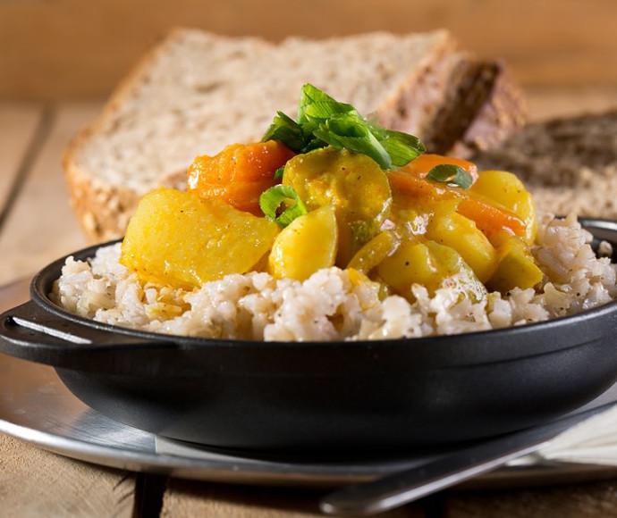 תבשיל ירקות בקרם קוקוס