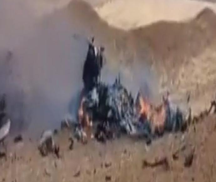תיעוד התרסקות מטוס הסוחוי בסוריה