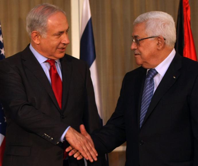 """ויתרו על השלום. אבו מאזן וראש הממשלה נתניהו. צילום: קובי גדעון, לע""""מ"""
