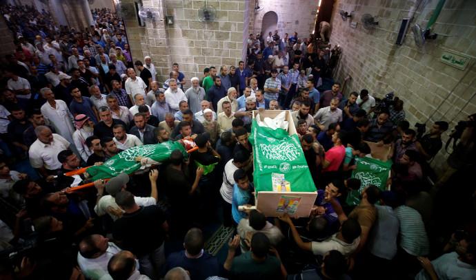 הלוויה של פעילי חמאס בעזה