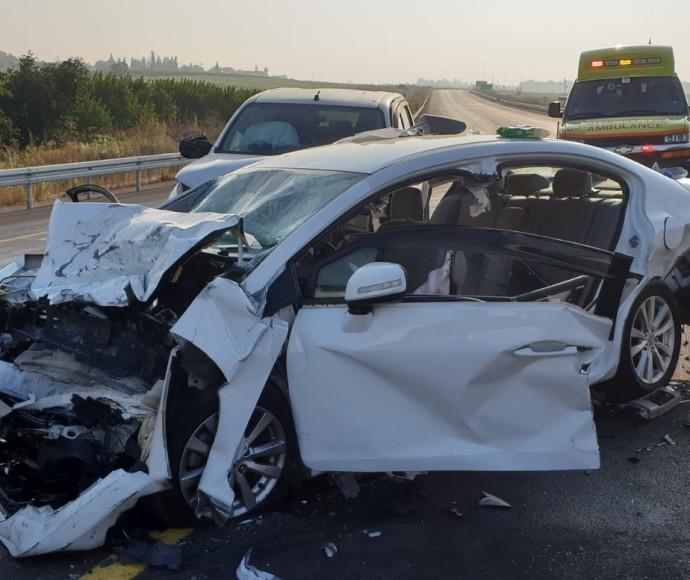זירת התאונה סמוך למושב עזריקם