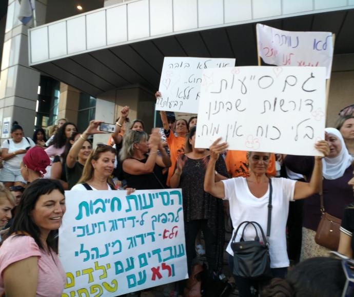 מחאת הסייעות בתל אביב