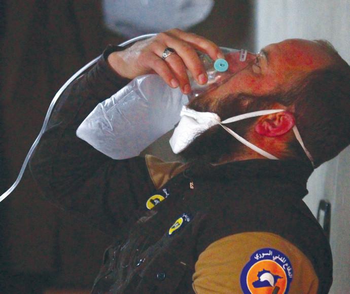 מתקפת גז בסוריה, ארכיון. צילום: רויטרס