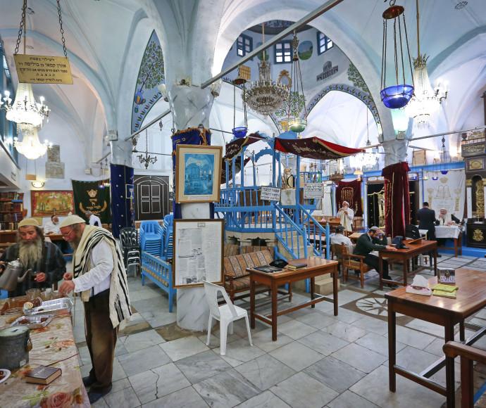 """בית הכנסת """"אבוהב"""" בצפת"""
