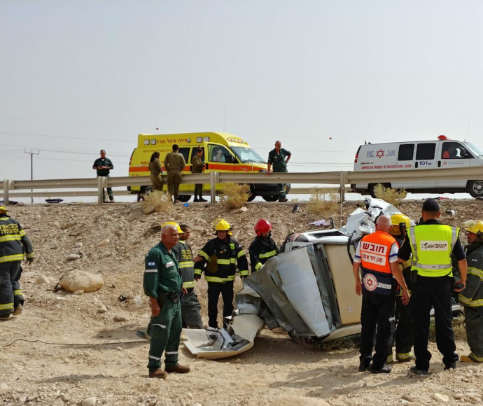 תאונת דרכים בכביש 90