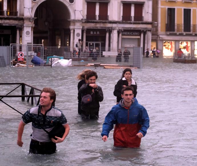 ככר סן מרקו בוונציה מוצפת