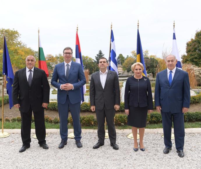 בנימין נתניהו ומנהיגי רומניה, יוון, בולגריה וסרביה
