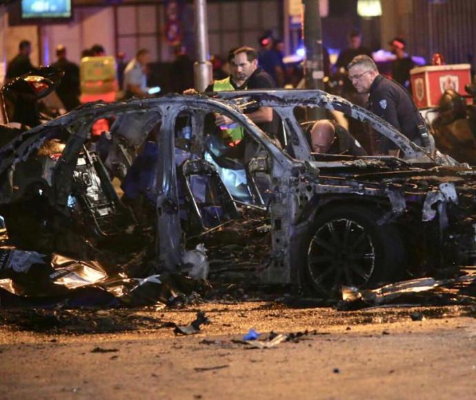 הרכב שפוצץ בשכונת התקווה