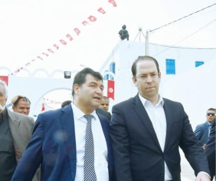 טראבלסי (משמאל) וראש ממשל. תוניסיה, אלשאהד
