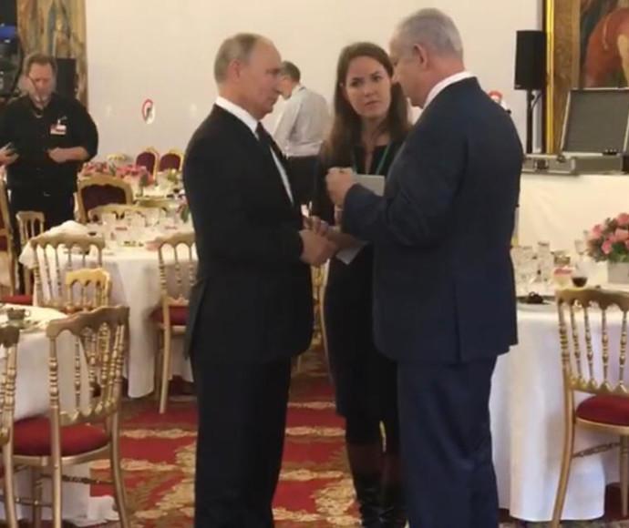 בנימין נתניהו וולדימיר פוטין בארמון האליזה