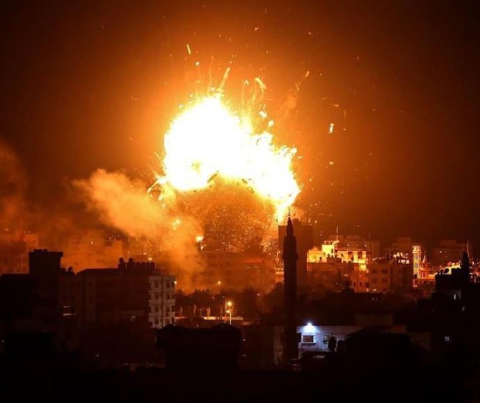 הפצצת מבנה תחנת הטלוויזיה ברצועת עזה