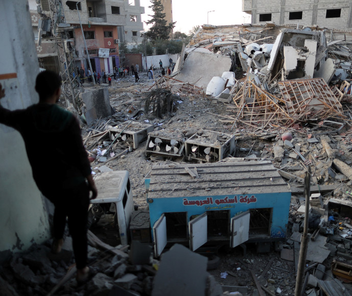 """בניינים שהותקפו ע""""י צה""""ל ברצועת עזה"""