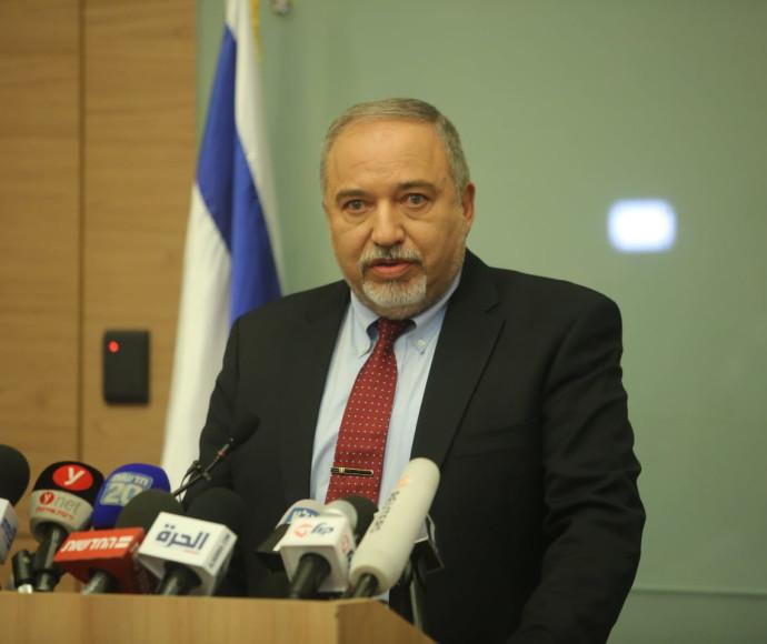 אביגדור ליברמן מודיע על התפטרותו