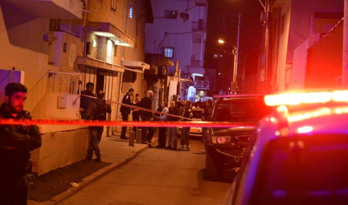 זירת אירוע הרצח בשכונת התקווה בתל אביב