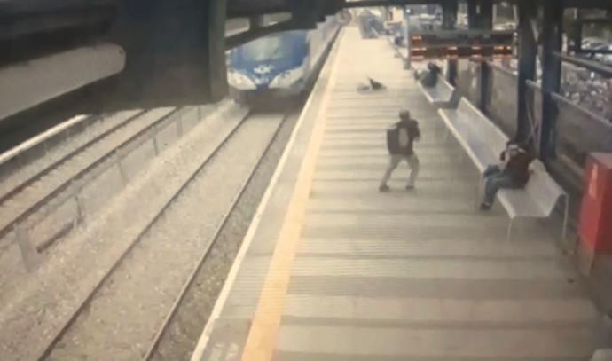 צילום מסך מתוך סרטון הרכבת