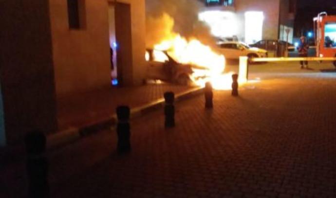 הרכב שהתפוצץ סמוך לביתו של קצין המודיעין