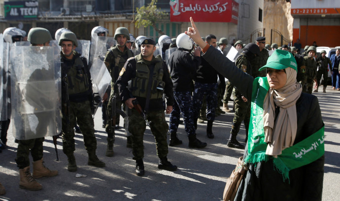 הפגנה של חמאס בחברון