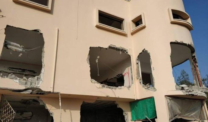 הריסת חלק מבית המחבל שביצע את הפיגוע בברקן
