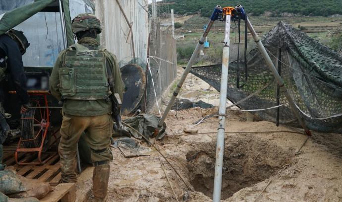 איטום מנהרות החיזבאללה בגבול לבנון