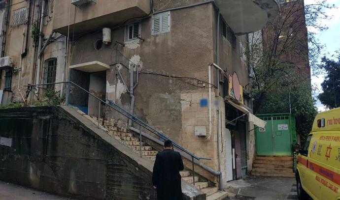 הדירה בחיפה בה נמצאו הנפגעים