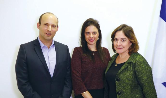 קרולין גליק, איילת שקד ונפתלי בנט