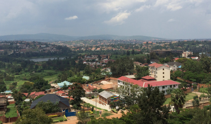 מבט מלמעלה על עיר הבירה של רואנדה