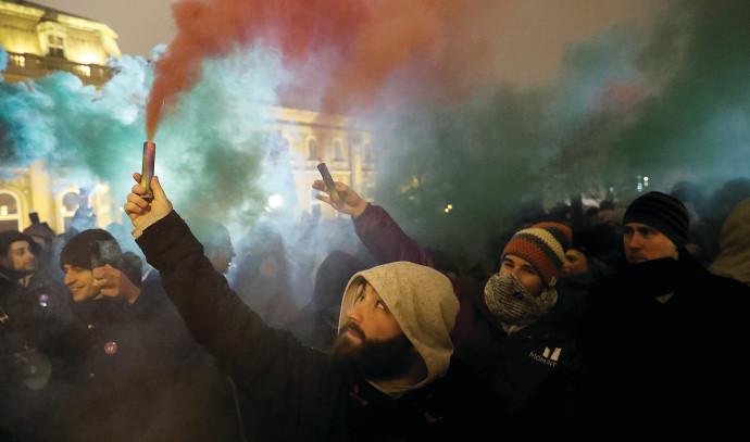 מחאה חברתית בבודפשט