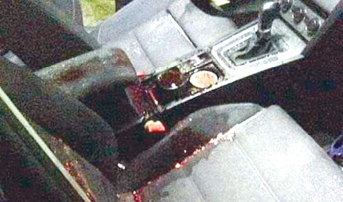 הרכב שנפגע מזריקת אבנים