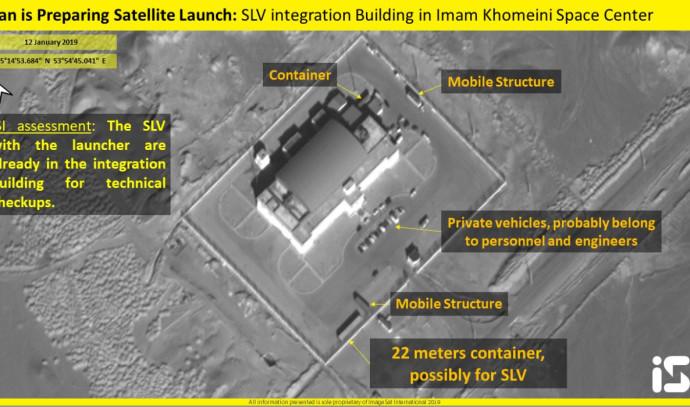 אתר השיגור של הלוויין האיראני