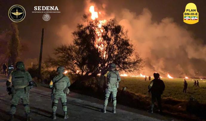 פיצוץ צינור דלק במקסיקו
