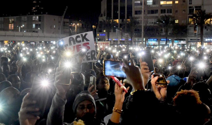 מחאת יוצאי אתיופיה בכיכר רבין