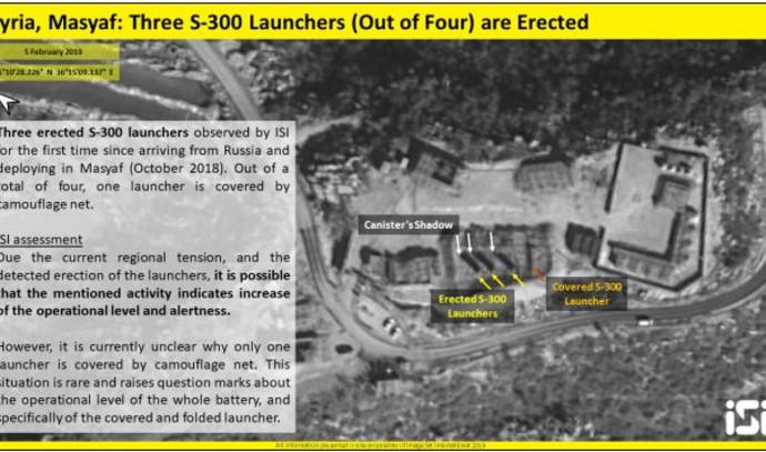 תמונת לוויין של סוללת S-300 מתוך דוח מודיעין של חברת ISI- ImageSat International