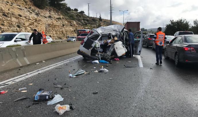 התאונה בכביש 443