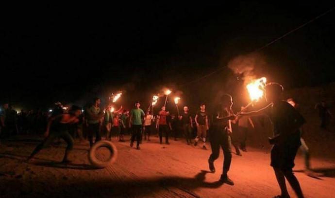 """עימותים בין הפלסטינים לצה""""ל בצפון רצועת עזה"""