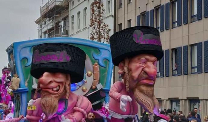 מיצג אנטישמי בבלגיה